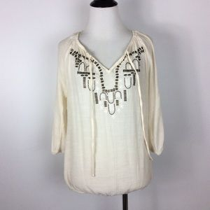 Maurice's Open Arm Embellished Blouse Size S